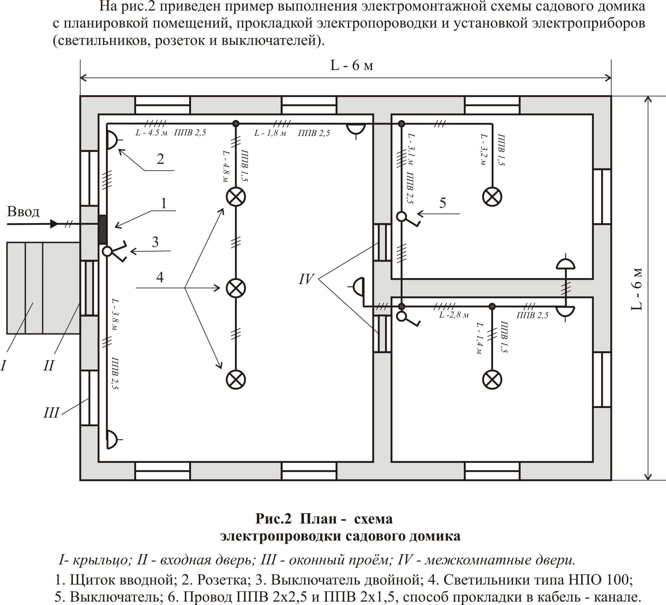 Пример схемы электроснабжения садового домика.  Рассмотрим для примера составления электрических схем для садового...