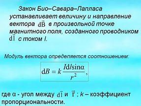 Закон Био Савара Лапласа